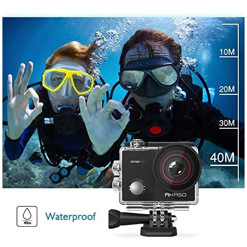 AKASO EK7000 Pro 4K Action Camera with Touch Screen EIS Adjustable View Angle 40m Waterproof Camera Remote Control… Action Cameras [tag]
