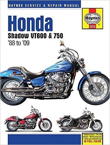 Honda Shadow VT600 & 750 '88 to '14 (Haynes Service & Repair Manual) by Editors of Haynes Manuals (2016-07-15)