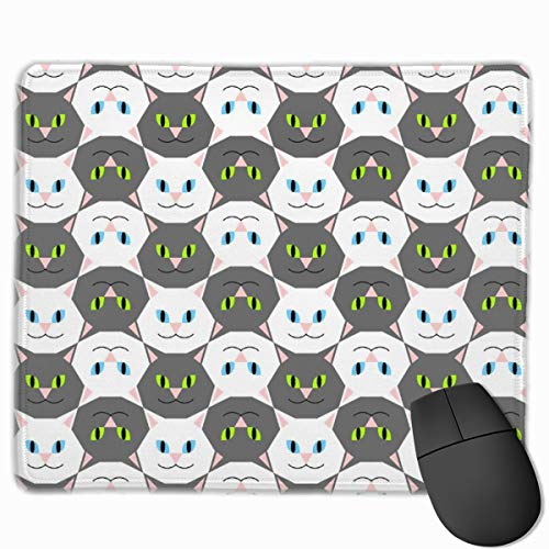 00751861 Cat Head 2j Mouse pad Mousepad Nonslip Rubber Backing 10