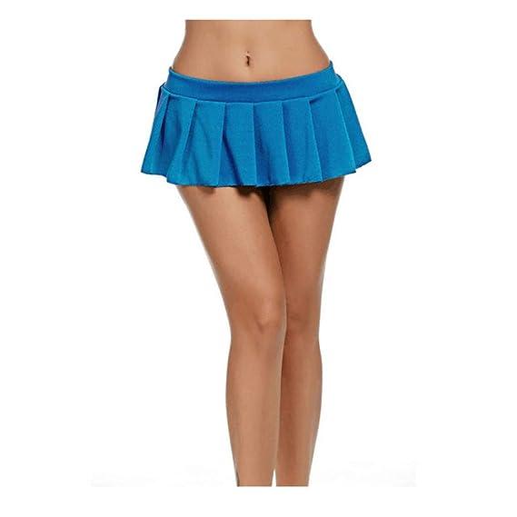 DYSY Minifalda Sexy Corta para Mujer, Falda Plisada metálica, 5 ...