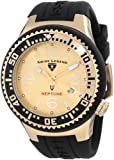 Swiss Legend Men's 21848P-YG-10 Neptune Gold Dial Black Silicone Watch, Watch Central