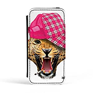 Leopard with Cap Premium Faux PU Leather Case Flip Case for Apple? iPhone 5 / 5s by Gangtoyz + FREE Crystal Clear Screen Protector