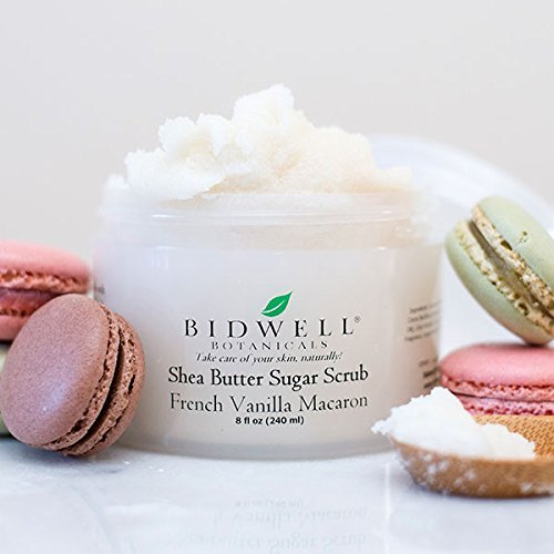 French Vanilla Macaron Sugar Scrub with Soothing Vanilla Extract and Milk Proteins
