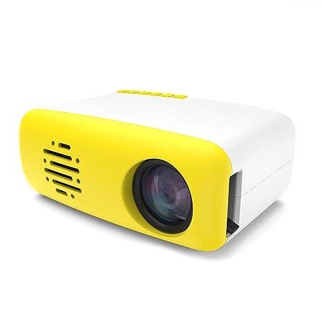 G-wukeer Mini Proyector Portátil, Proyector De Video Full HD, Proyector Portátil con Bolsa De Transporte, Compatible con HDMI, VGA, Películas, ...