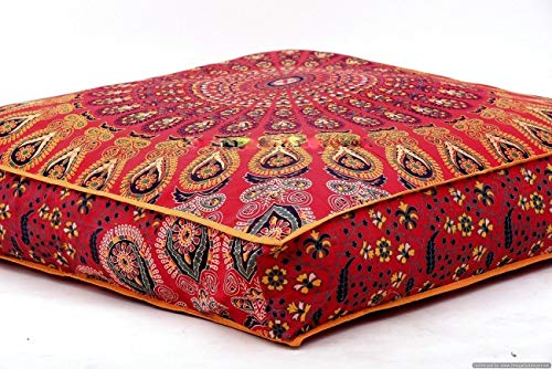 Large Indian Meditation Floor Pillow Cover 35 Quot X 35 Quot Inch
