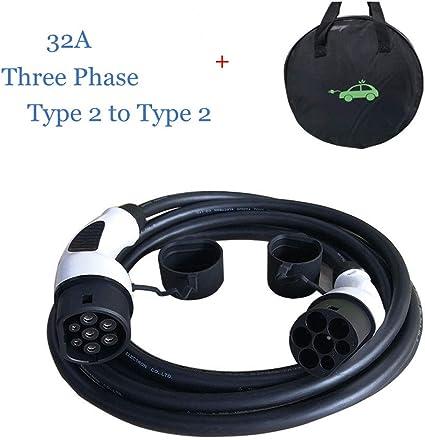 K H O N S Typ 2 Ladekabel Ev 22kw 3 Phasig Ev Ladekabel Für Elektrofahrzeuge Typ 2 Zu Typ 2 32a 5m Mit Tragetasche Iec 62196 2 Auto