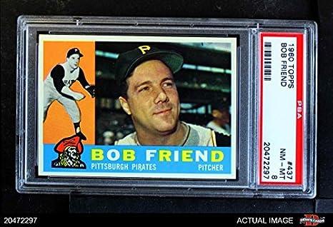 Amazoncom 1960 Topps 437 Bob Friend Pittsburgh Pirates