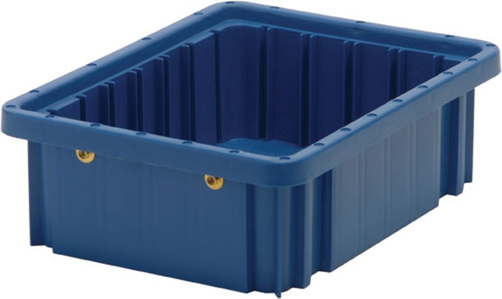 Quantum Storage Systems DG91035BL Dividable Grid Container 10-7/8-Inch Long by 8-1/4-Inch Wide by 3-1/2-Inch High, Blue, 20-Pack