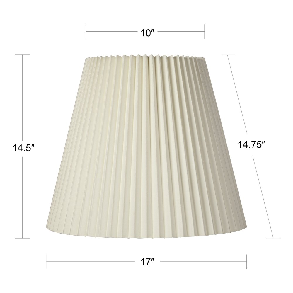 Ivory Pleated Shade 10x17x14.75 (Spider) by Brentwood (Image #5)