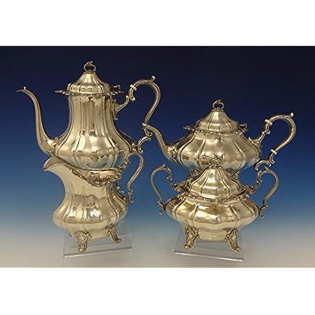 Strasbourg By Gorham Sterling Silver Tea Set 4pc 0640