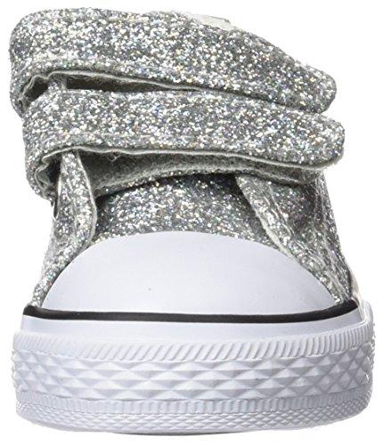 Conguitos Hvs14102, Zapatillas para Bebés Plateado (Glitter)