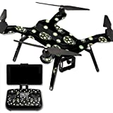 MightySkins Protective Vinyl Skin Decal for 3DR Solo Drone Quadcopter wrap cover sticker skins Glowing Skulls