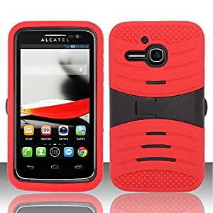 For Alcatel One Touch Evolve 5020T (T-Mobile) UCASE Cover w/ Kickstand - Red UCASE