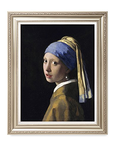 DecorArts - Girl With A Pearl Earring, Johannes Vermeer Classic Art. Giclee Prints Framed Art for Wall Decor. Framed size: 30x36'' by DECORARTS