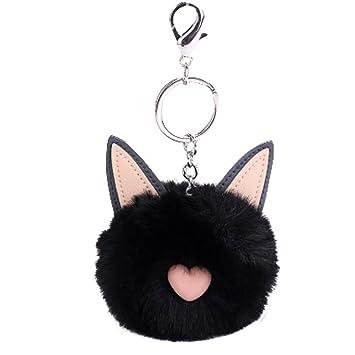 Llavero con forma de orejas de gato de 8 cm para mujer ...