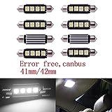 Inlink 8pcs white 41mm 42mm 4SMD Festoon 5050 SMD LED Courtesy Interior Car Bulbs festoon dome lamp DC 12V
