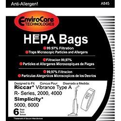 EnviroCare Technologies HEPA Bags Riccar Vibrance