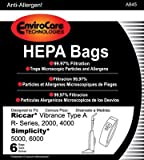 EnviroCare Technologies HEPA Bags Riccar Vibrance Type A...