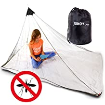 JunoCamp Single Mosquito Net for Camping & Travel, Army Green