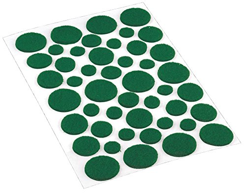Dots Felt (Shepherd Hardware 9423 Self-Adhesive Felt Surface Protection Pads, Assorted Sizes, 46-Count, Green)