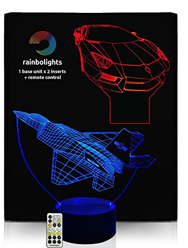 GREAT-GIFT-3D-Illusion-Night-Light-2-Designs-in-1-box-with-REMOTE-CONTROLLER-by-rainbolights