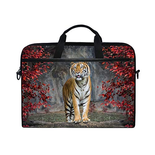 Tiger Macbook Laptops - TropicalLife Laptop Bag Animal Tiger Lightweight Briefcase Shoulder Messenger Bag Laptop Case Sleeve for 11.6-15 inch MacBook Pro, MacBook Air Laptop and Tablet