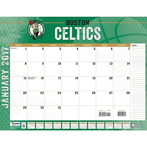 "Turner Licensing Sport 2017 Boston Celtics Desk Pad Calendar, 22""X17"" (17998061521)"