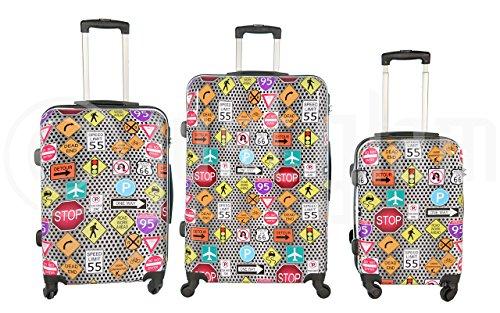 77bbca5f6 Trolley valigia set valigie rigide set bagagli in policarbonato abs ...