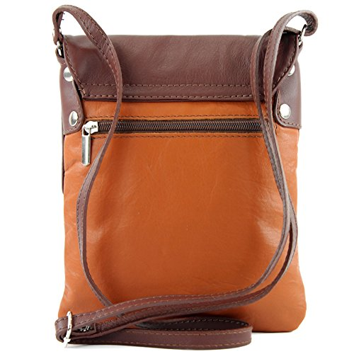 bag shoulder Messenger Camel Brown bag ladies 34 T small leather modamoda ital de qwt1nIX