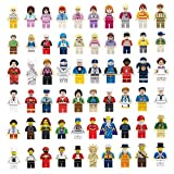 NINANO Minifigures Set - 60pcs Mini Community Building Bricks People Kids Party to Build More Fun,Boys Girls' Toys