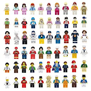 NINANO Lego-Compatible Minifigures Set - 60pcs Mini Community Building Bricks People for Kids Party to Build More Fun,Boys and Girls' Toys