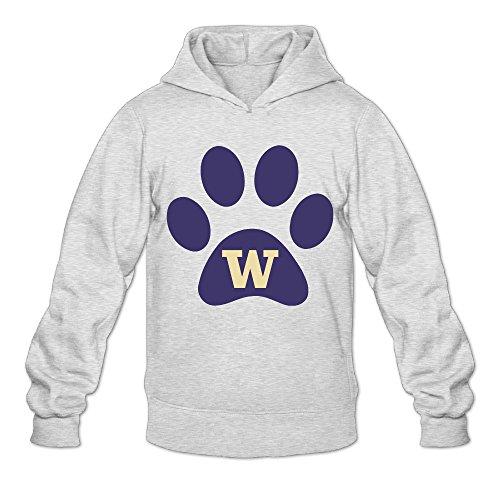 [DVPHQ Men's Classic University Of Washington Hooded Sweatshirt Size L Ash] (Wine Bottle Costumes Halloween)