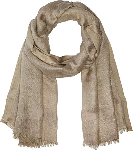 Love Quotes Women's Linen Lurex Eyelash Scarf Beechwood One Size
