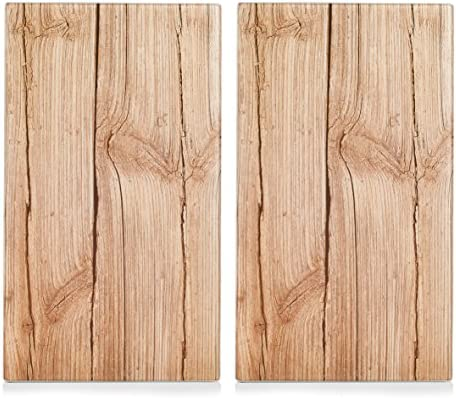 Zeller 26277 - Tabla para cortar de cristal, madera, 52 x 30 cm, 2 unidades
