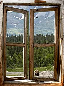 Jp london cwposlt7022 ustrip lite removable wall decal for Cabin in the woods wall mural