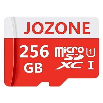 JOZONE Tarjeta de Memoria microSDXC de 256 GB con Adaptador SD Class 10, Resistente al Agua