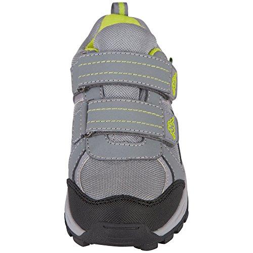 Kappa Unisex-Kinder Scoop Tex Teens Sneaker Grau (1633 Grey/Lime)