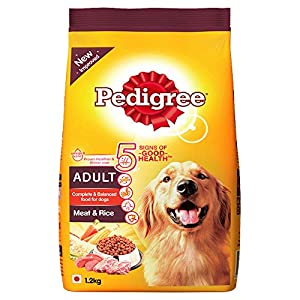Pedigree Adult Dry Dog Food, Meat and Rice, 1.2kg Pack