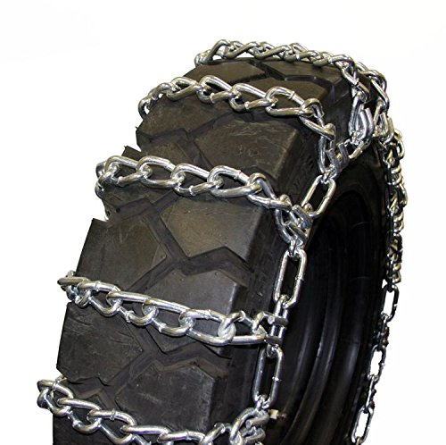 Quality Chain Round Twist 8mm Skid Steer Link Tire Chains (4-Link Spacing) (1500) by Quality Chain (Image #1)