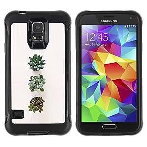 LASTONE PHONE CASE / Suave Silicona Caso Carcasa de Caucho Funda para Samsung Galaxy S5 SM-G900 / Plant Art Flower Nature