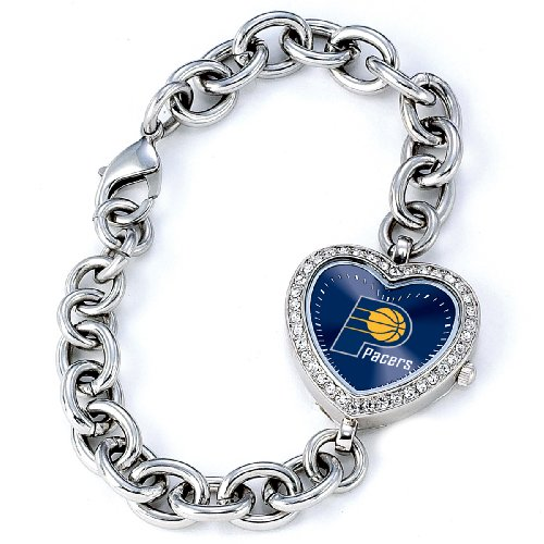 Nba Indiana Pacers Bracelet - Game Time Women's 'Heart Quartz Stainless Steel Casual Watch(Model: NBA-HEA-IND