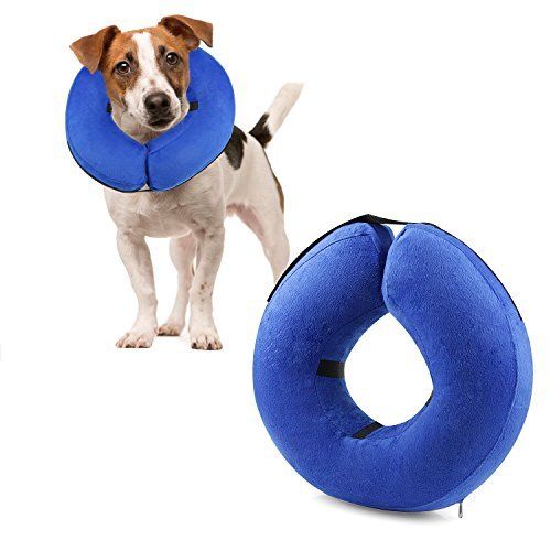 ONSON Protective Inflatable Cone Collar for Dogs and Cats, Adjustable Soft Pet Recovery E-Collar, Not Block Vision E-Collar, Small