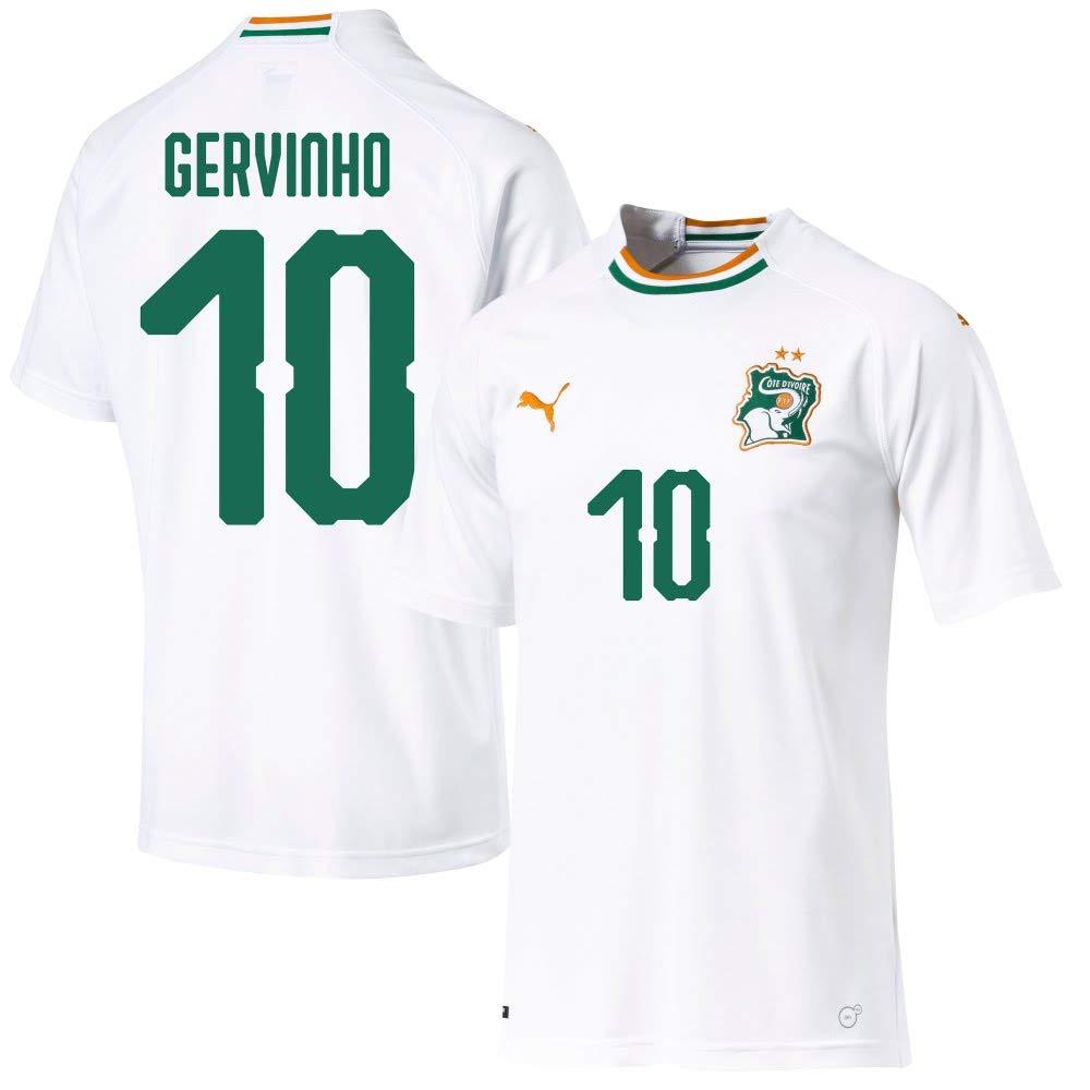 Puma Elfenbeinküste Away Trikot 2018 2019 + Gervinho 10 (Fan Style)
