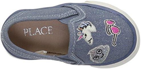 The Children\'s Place Kids\' Sneaker,DENIM-TG DENIM PATCH ROCKSTAR,4 M US Toddler