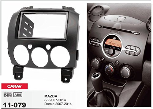CARAV 11 2014/+ Adaptateur ISO and Antenna Cable 079 15 Demio 2007 6/Kit dinstallation autoradio DIN Car de 2/dans Dash Set for Mazda 2