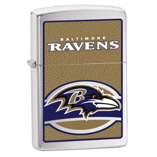 Zippo NFL Baltimore Ravens Lighter (Silver, 5 1/2 x 3 1/2 cm)