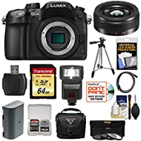 Panasonic Lumix DMC-GH4 4K Micro Four Thirds Digital Camera Body with 20mm f/1.7 II Lens + 64GB Card + Battery + Case + Tripod + Flash + Filters Kit Basic Facts Review Image