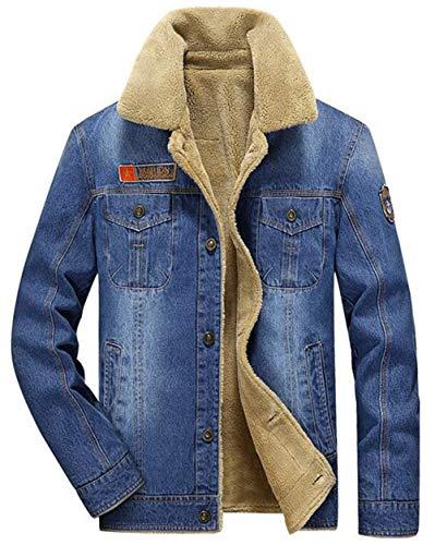 Giovane Giovane Uomo Giacche Uomini Blau Caldo Autunno Jeans Cashmere Inverno Stare In Gli Spessa Classico Finto Fodera E Di Più Ntel Stagionale XwX0rUq