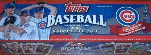 2005 Topps Baseball Factory Sealed Complete Set Limited Chicago Cubs Edition 733 Cards Plus Exclusive Pack of 5 Cubs Cards Only Found in This SET (2005 Topps Factory Set)
