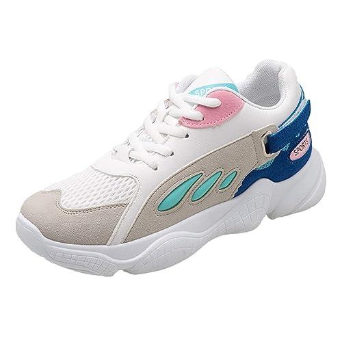 QinMM Zapatillas Deportivas con Cordones Plataforma para Mujer Zapatos Running Informales Transpirables Zapatillas para Correr: Amazon.es: Zapatos y ...